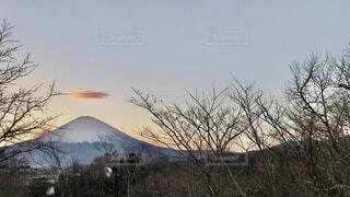 自然,空,富士山,雪,屋外,雲,山,樹木,日本人
