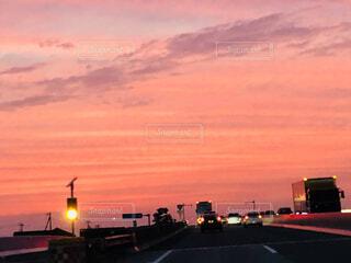 都会の夕暮れの写真・画像素材[4828761]