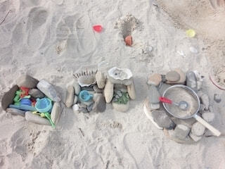 海,夏,キッチン,砂,ビーチ,砂浜,夏休み,野外,思い出,お料理,おままごと