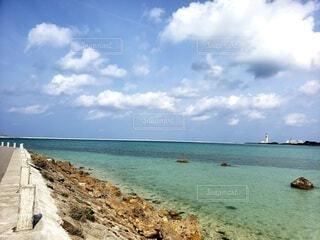 自然,風景,海,空,屋外,ビーチ,雲,水面,海岸,沖縄,日中