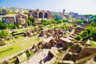 空,建物,屋外,景色,家,樹木,遺跡,イタリア,ローマ遺跡,跡地,フォロ・ロマーノ