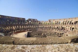 空,建物,屋外,青空,ローマ,地面,廃墟,イタリア,コロッセオ