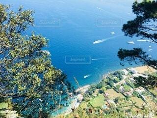 自然,海,夏,屋外,湖,ビーチ,水面,山,景色,登山,樹木,イタリア,カプリ島