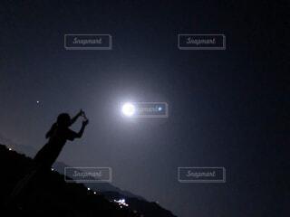 自然,風景,空,夜,屋外,月,明るい