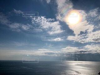 海,太陽,青