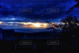 自然,風景,空,散歩,日の出,早朝,くもり