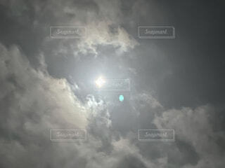 自然,風景,空,屋外,雲,月,煙,くもり