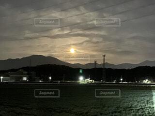 自然,風景,空,屋外,雲,水面,山,月,明るい