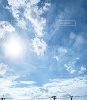 青空の雲たちの写真・画像素材[4843435]