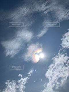 虹色太陽の写真・画像素材[4843447]
