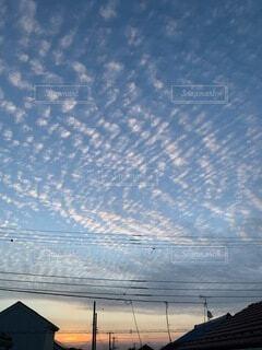 朝焼けと雲の写真・画像素材[4843443]