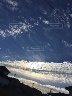 雲と空の境界の写真・画像素材[4843446]