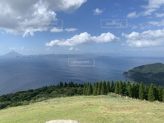 自然,風景,空,屋外,湖,雲,水面,山,景色,草,丘,樹木