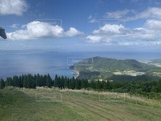 自然,風景,空,屋外,湖,雲,水面,山,草,丘,樹木
