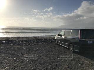 風景,空,屋外,サーフィン,ビーチ,波,車,車両,ホイール,陸上車両