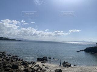 自然,風景,海,空,屋外,湖,ビーチ,雲,水面,海岸,山