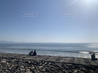 自然,海,空,屋外,サーフィン,ビーチ,波,水面,海岸,人物