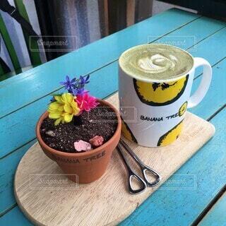 韓国のかわいいカフェの写真・画像素材[4854336]
