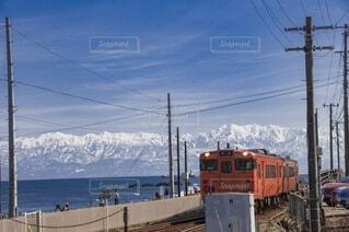 立山眺める鉄道の写真・画像素材[4852818]