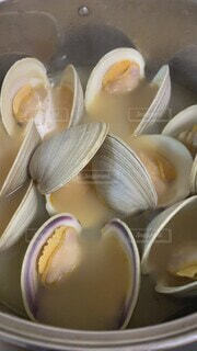 ホンビノス貝の酒蒸しの写真・画像素材[4873676]