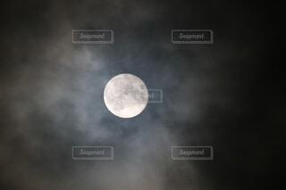 自然,風景,空,屋内,暗い,月,満月