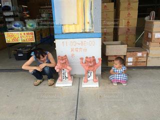 沖縄,お店,旅行,お座り,シーサー