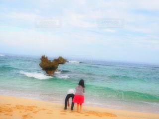 海,カップル,綺麗,沖縄,ハート,旅行