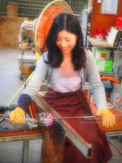 琉球ガラス体験の写真・画像素材[901675]