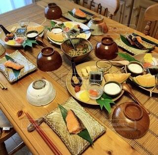 和の朝食の写真・画像素材[4861457]