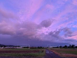 空の雲の群の写真・画像素材[4880029]