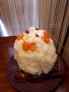 美味しくてキレイなフルーツかき氷の写真・画像素材[4871733]