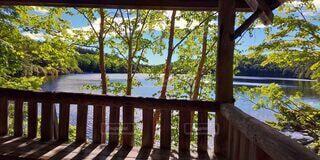 テラスからの湖畔の写真・画像素材[4883443]