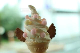 かわいいソフトクリームの写真・画像素材[4880618]
