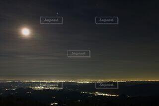 自然,風景,空,夜,夜景,屋外,雲,日光,月,栃木県,土星,木星,山腹,霜降高原