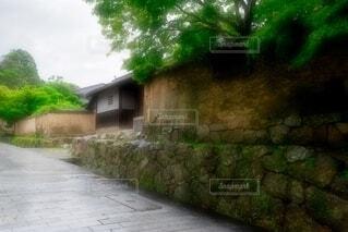 雨の城下町 下関市長府の写真・画像素材[4905655]