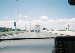 車の中からの写真・画像素材[4865799]