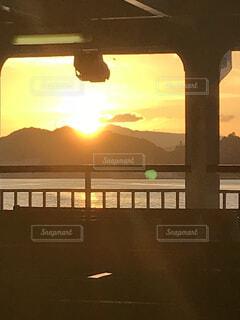 瀬戸内海の夕暮れの写真・画像素材[4866074]