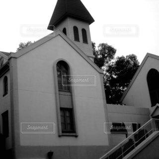 建物,屋外,白黒,景色