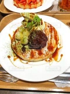 抹茶のパンケーキの写真・画像素材[4889275]