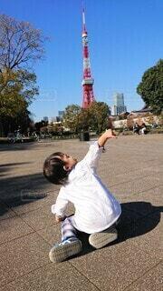 初めての東京タワーの写真・画像素材[4870787]