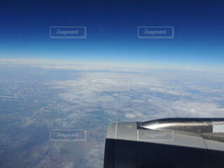 飛行機から眺める景色の写真・画像素材[4871414]
