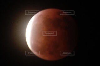 皆既月食の写真・画像素材[4869646]