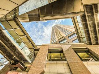 空,建物,屋外,雲,窓,シルエット,都会,高層ビル,サンセット,アーキテクチャ