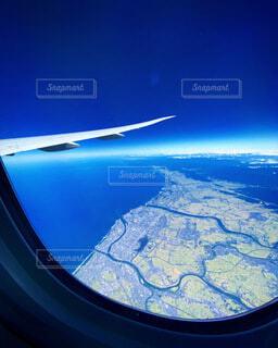 機内からみる日本の写真・画像素材[4870336]