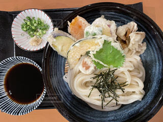 食べ物,食事,ディナー,黒,うどん,フード,野菜,天ぷら,飲食