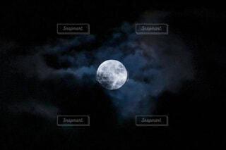 自然,風景,空,夜空,暗い,月,満月,怪しい,月と雲
