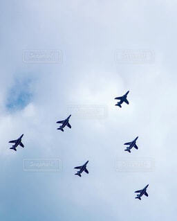 空に置かれたおもちゃのようなの写真・画像素材[4872393]