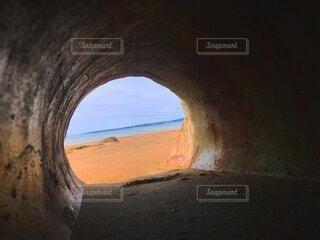 地面の穴の眺めの写真・画像素材[4874509]