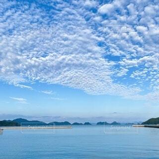 自然,海,空,屋外,雲,ボート,水面,山,秋の空