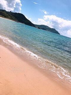 自然,海,空,屋外,砂,ビーチ,雲,水面,海岸,山